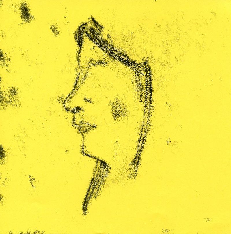 Monoprints from Post it Journeys