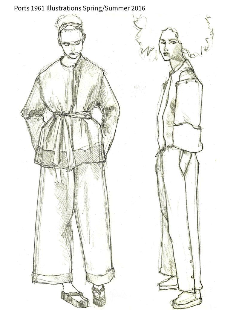 Ports 1961 S/S 2016 illustrations