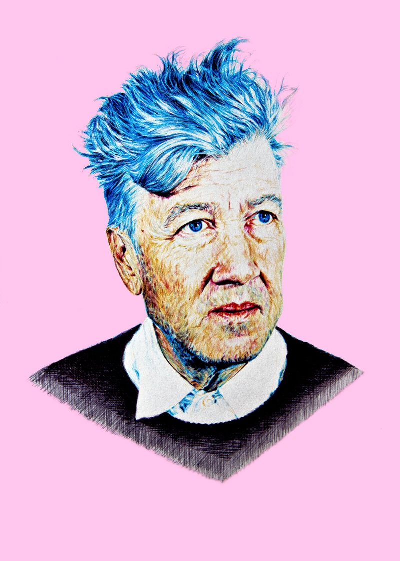 David Lynch Ballpoint Illustration