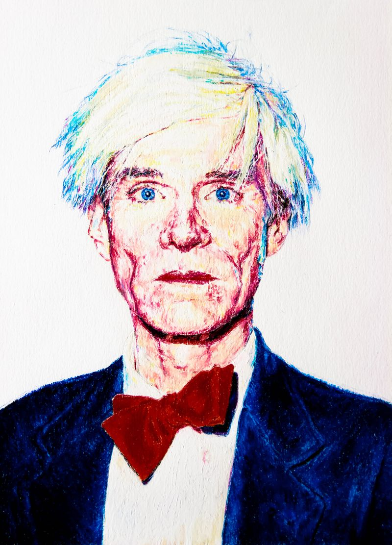 Andy Warhol Oil Pastel Illustration