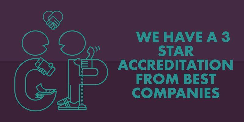 Sunday Times Best Companies 3 Star Accreditation