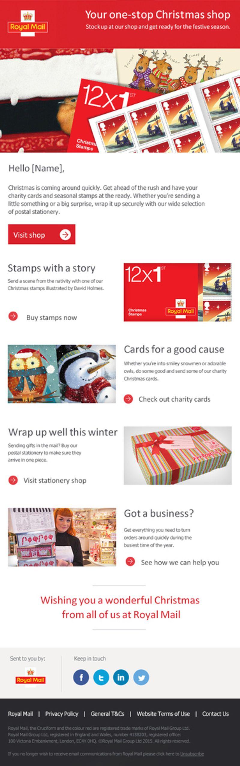 Royal Mail Christmas Business Web Design