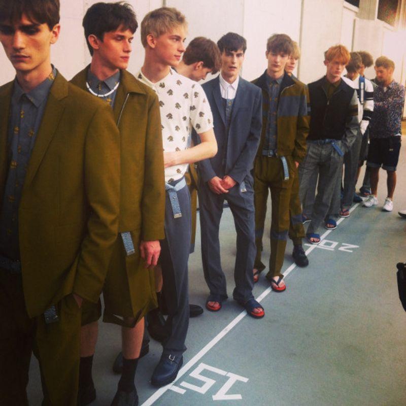 Assisting on Kris Van Assche Fashion Show