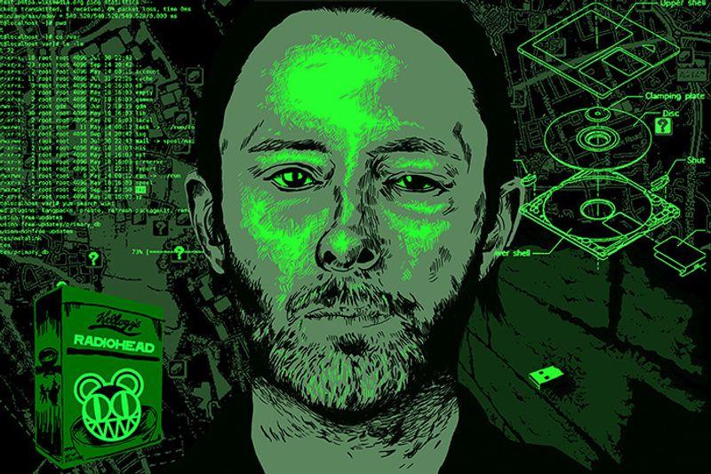 Red Bull - Radiohead illustration