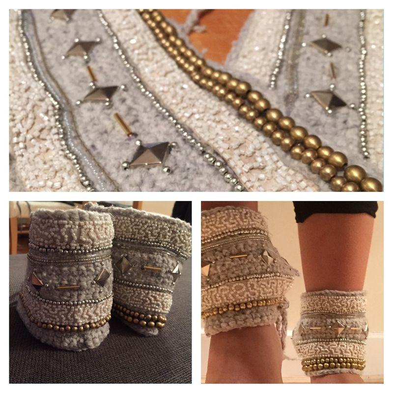 Me, my crochet hook & my sewing machine