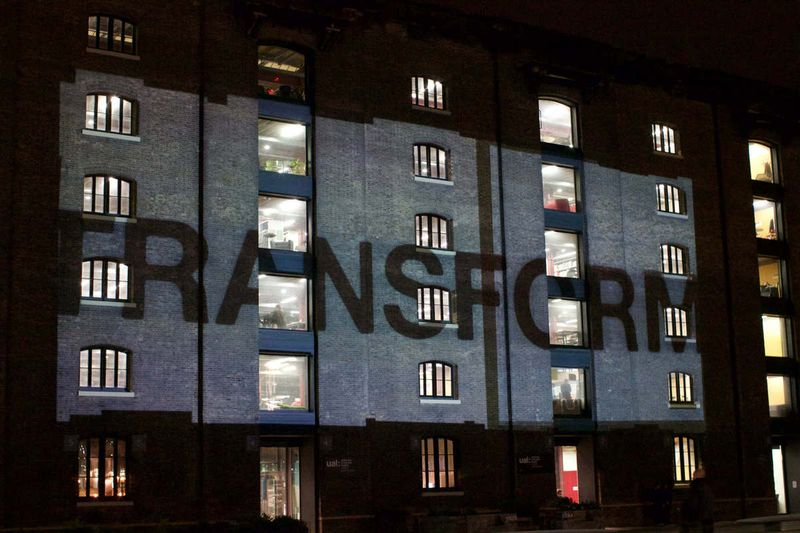 'Transform' Granary Square Projection Mapping & Fountain Control