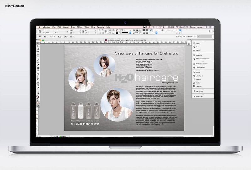 H2O Haircare Branding and Marketing Material