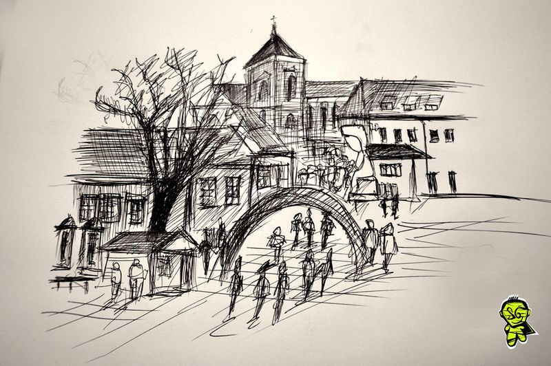 New drawings from my city - Kaunas !