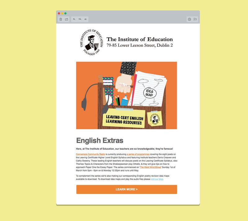 Email Marketing: The Institute of Education