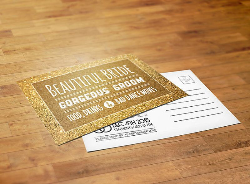 Print Design: Wedding Invite Postcard