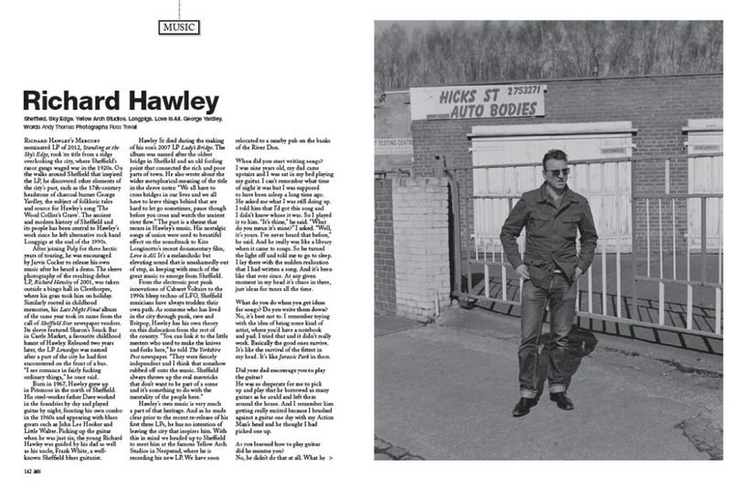 Interview with musician Richard Hawley for Jocks & Nerds