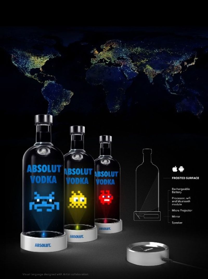 Absolut Connected Bottles Challenge