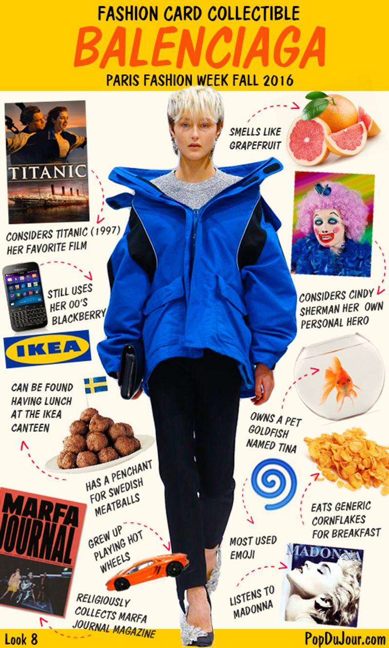 Fashion Card Collectible - Balenciaga (Fall 2016)