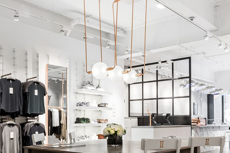 Second Law Bespoke Lighting Installation for Kit and Ace, Redchurch Street