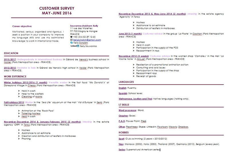 Customer Survey in Exportation