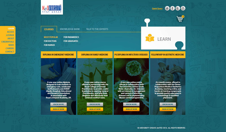 Website Copy/Content: Medvarsity | The Dots