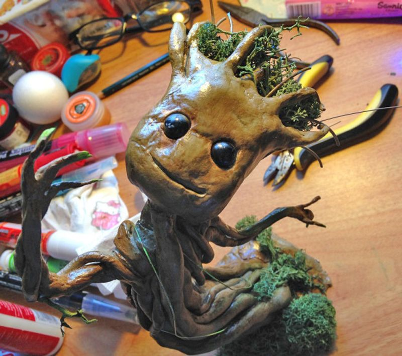 Create a Groot Figure with Clay