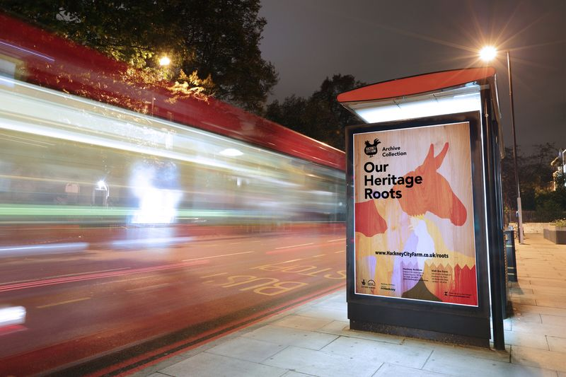 Our Heritage Roots Poster & Flyer - Hackney Archives & Hackney City Farm