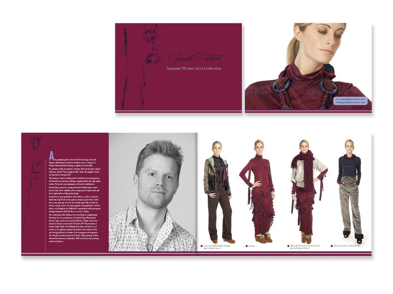 Lookbook for AW2014 Collection by Gareth Roberts Designer