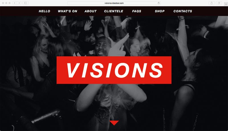 Visions Video Bar London Website