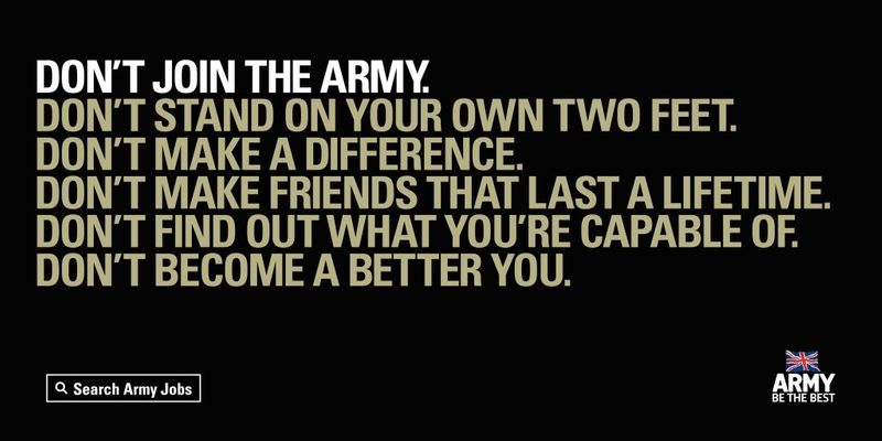 DON'T JOIN THE ARMY. DON'T BECOME A BETTER YOU.
