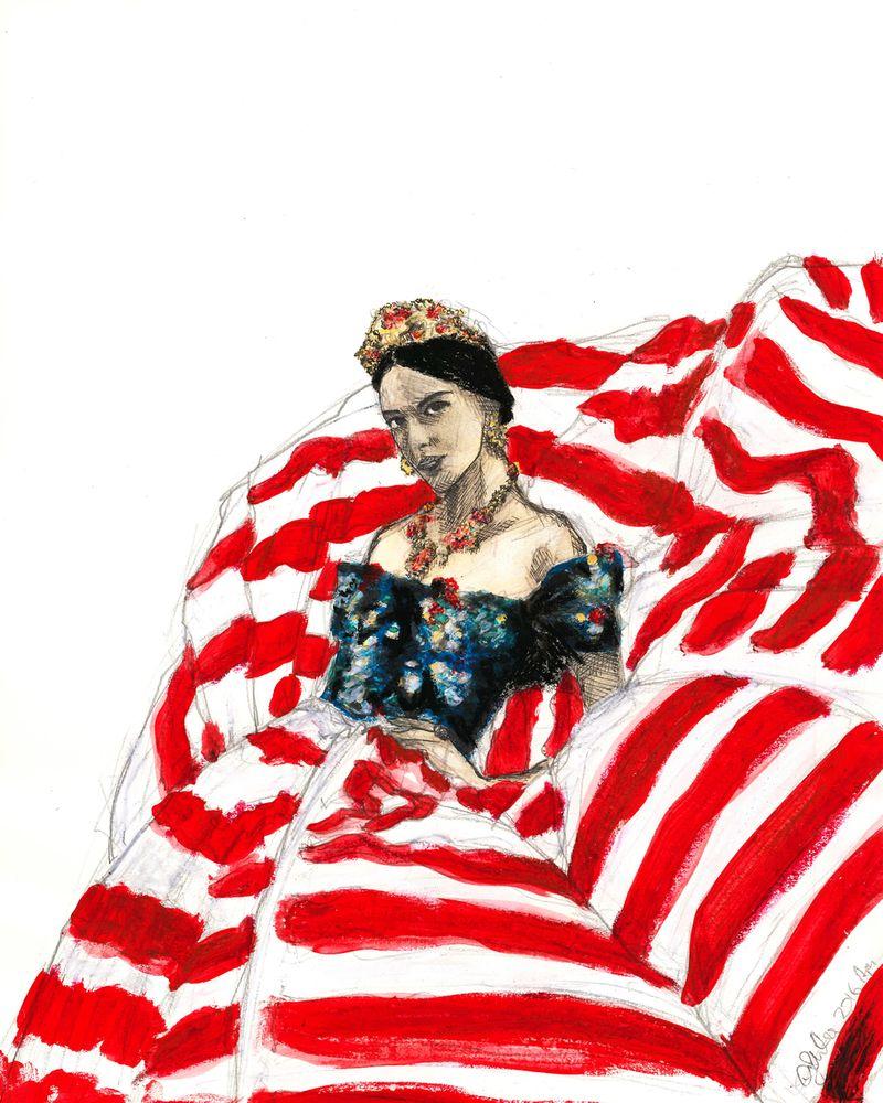 Illustration for Dolce & Gabbana Alta Moda 2014-2016