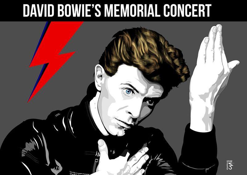 David Bowie Memorial Concert Poster