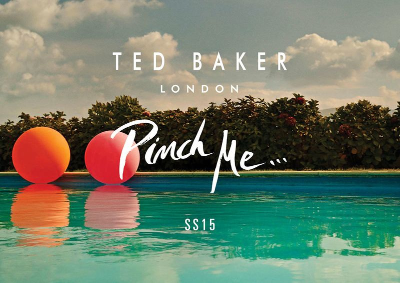 Ted Baker   SS15 calligraphy and VM