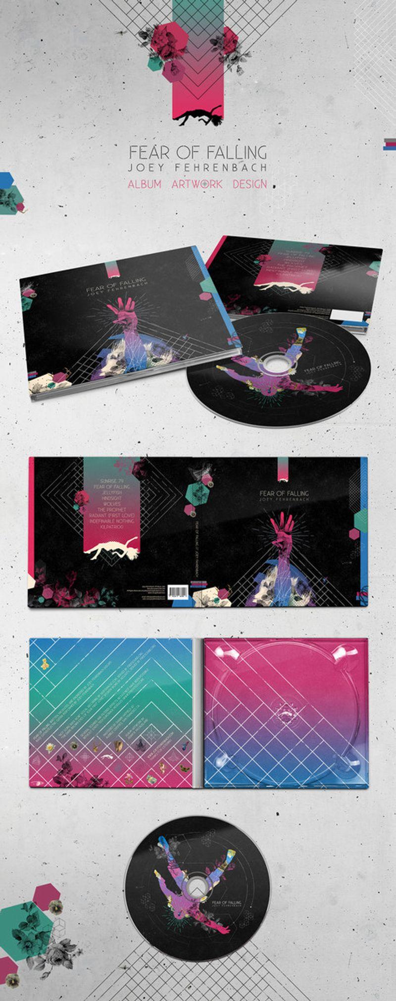 Joey Fehrenbach ' Fear of Falling' Album Cover Design