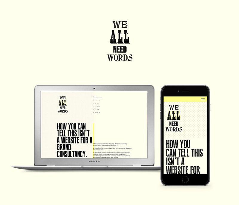 WeAllNeedWords Website