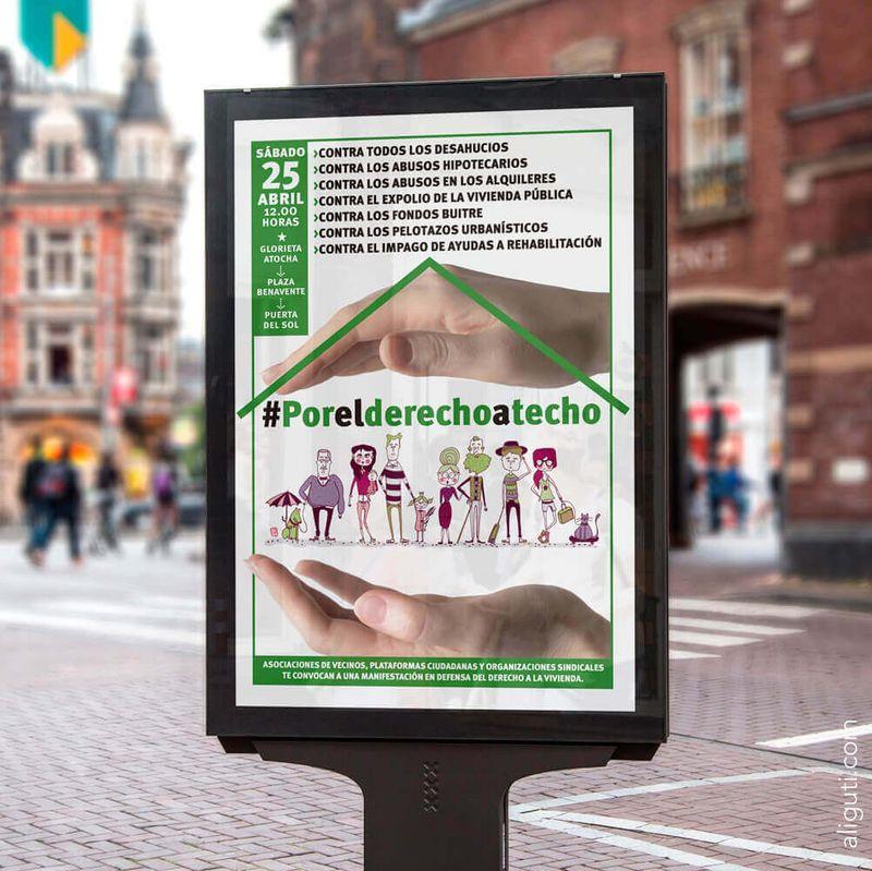 #PorElDerechoATecho - Poster Design