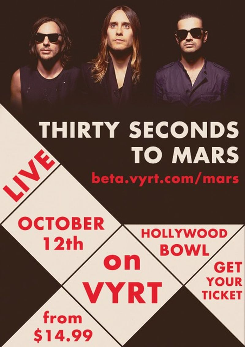 Promo art for Thirty Seconds To Mars
