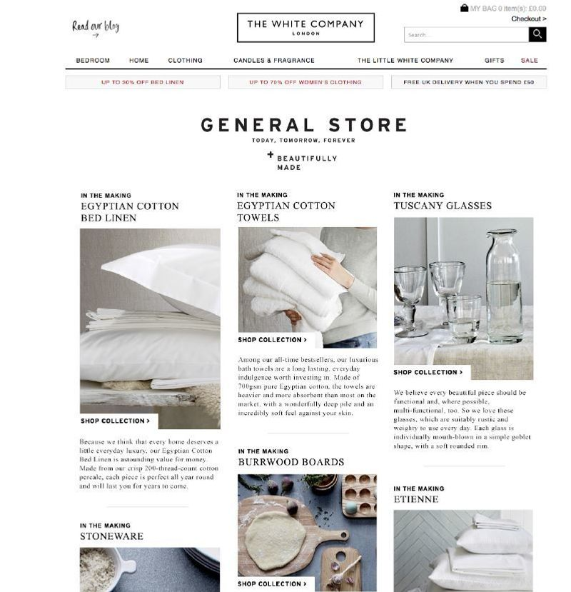 The White Company: Online Content