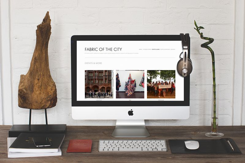 Fabric of the City Website and Promotional Material