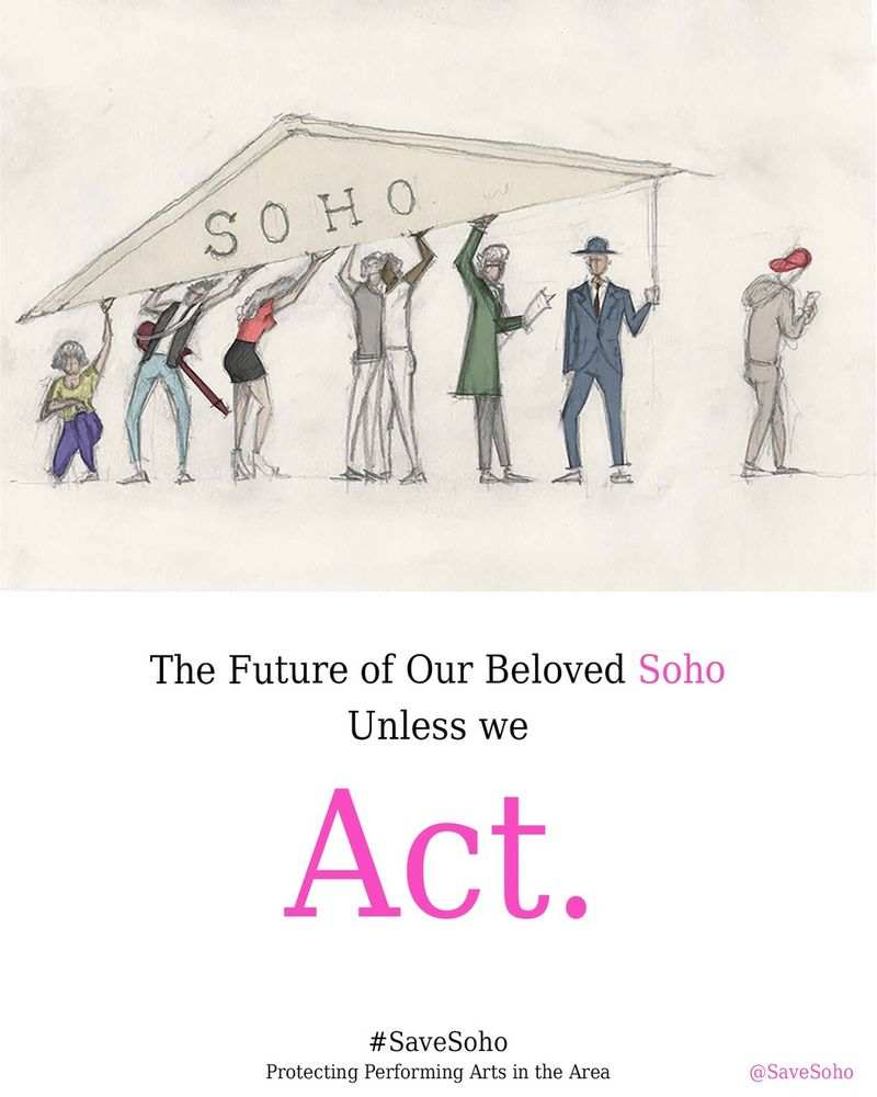 Save Soho = Act Poster