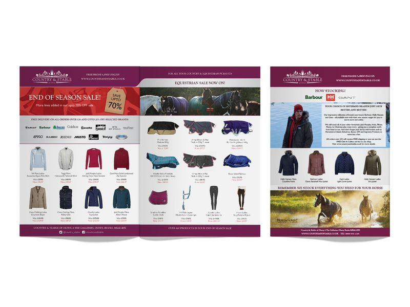 Country & Stable - Application of the brand, Print, Emails and Web Banners