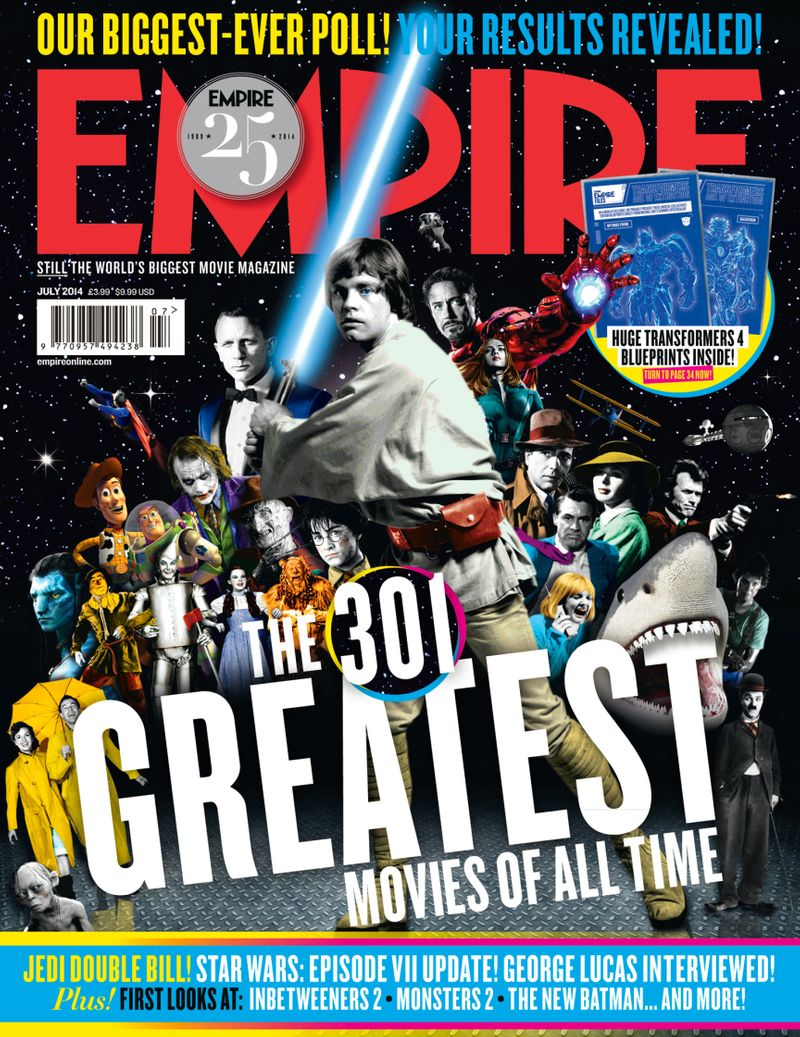 301 Greatest Movies of all time cover / Empire