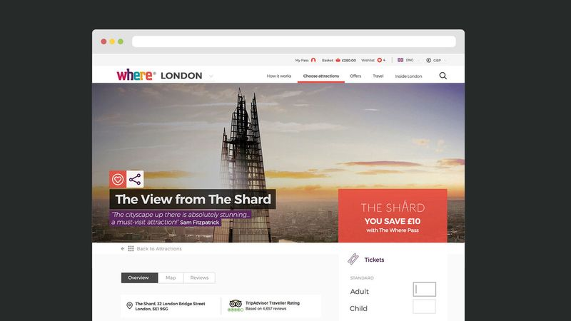 The Where Pass — E-commerce site