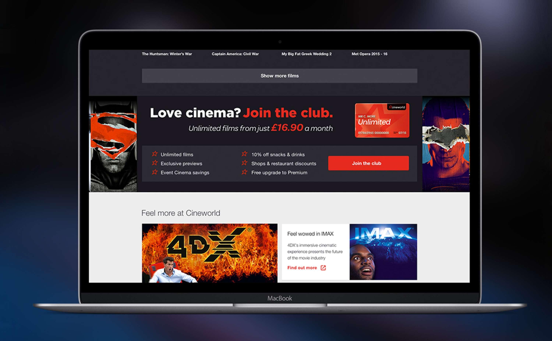 Cineworld Website Redesign The Dots