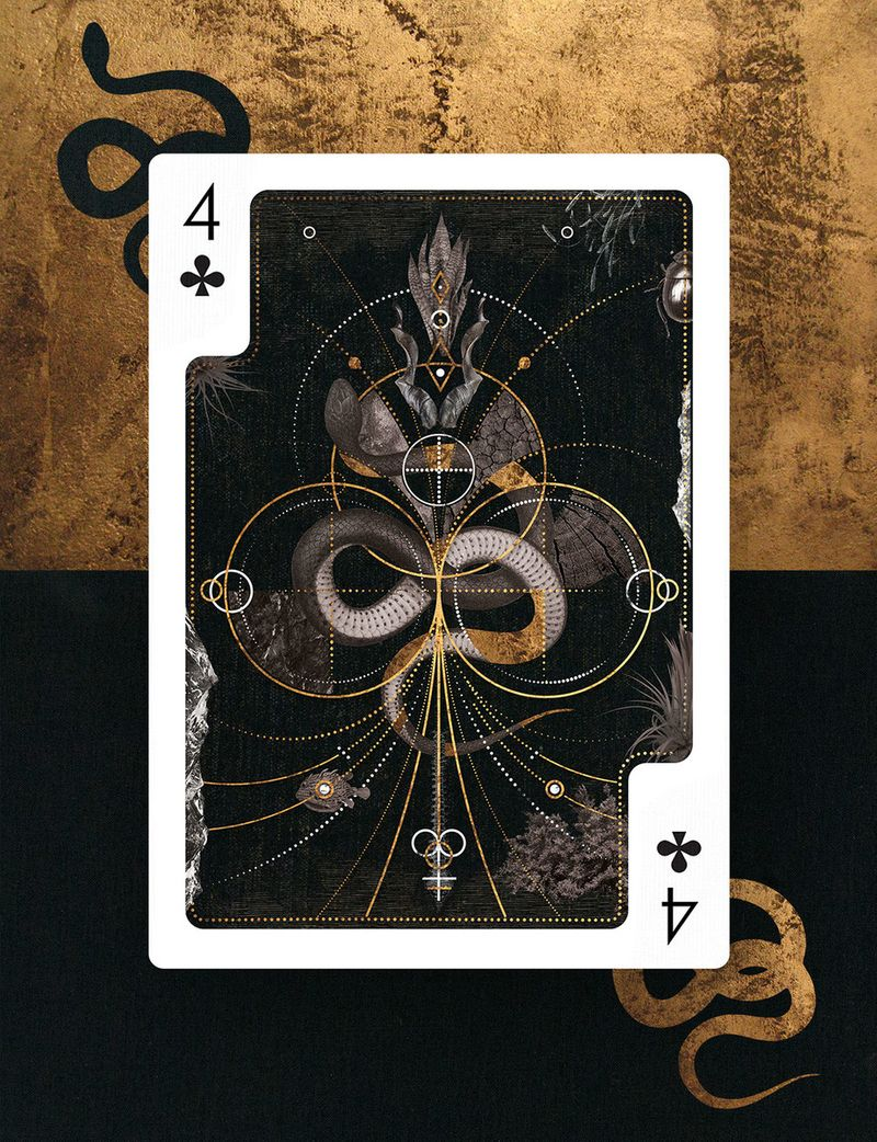 4 of Clubs Card Design