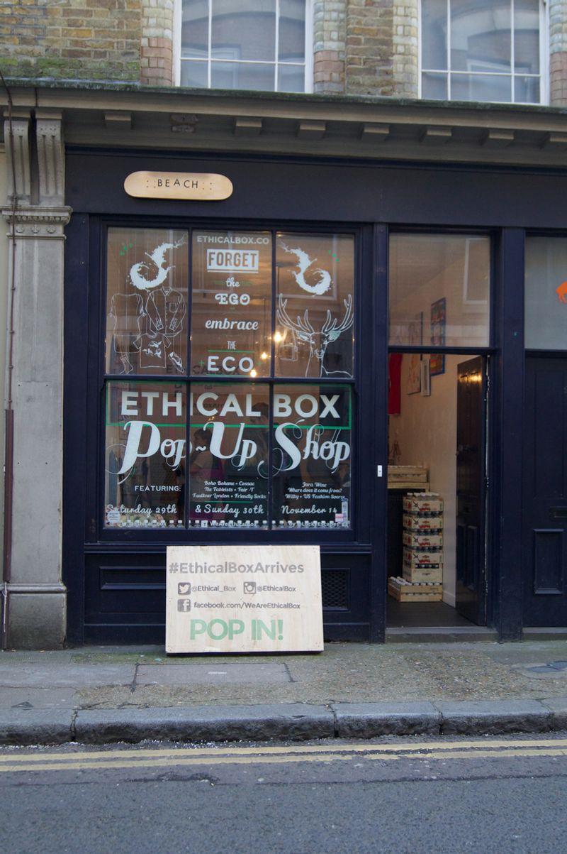 Ethical Box Window Display
