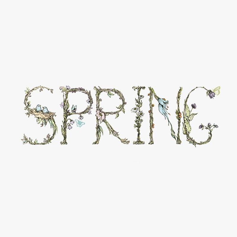 Spring typography