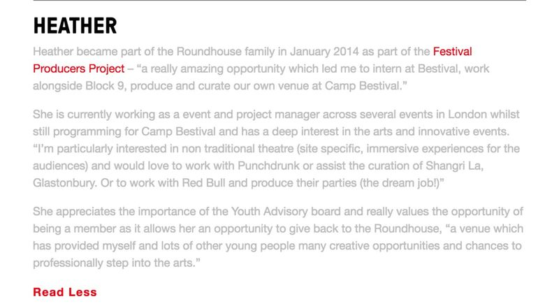 Roundhouse Youth Advisory Board