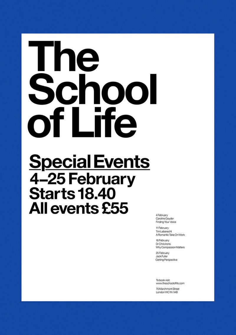 The School of Life Poster and Invitations