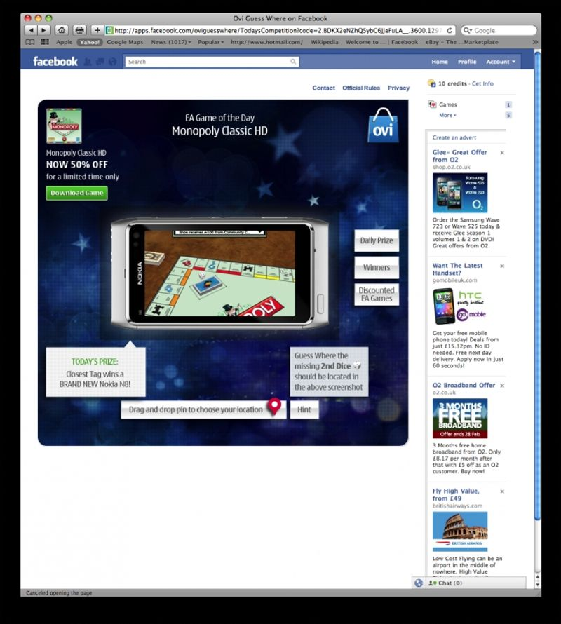 Nokia Ovi store Facebook App