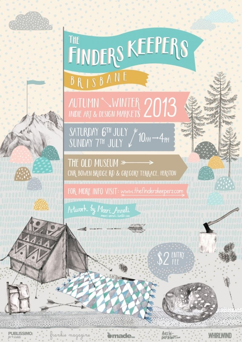 The Finders Keepers AW13 Markets Poster