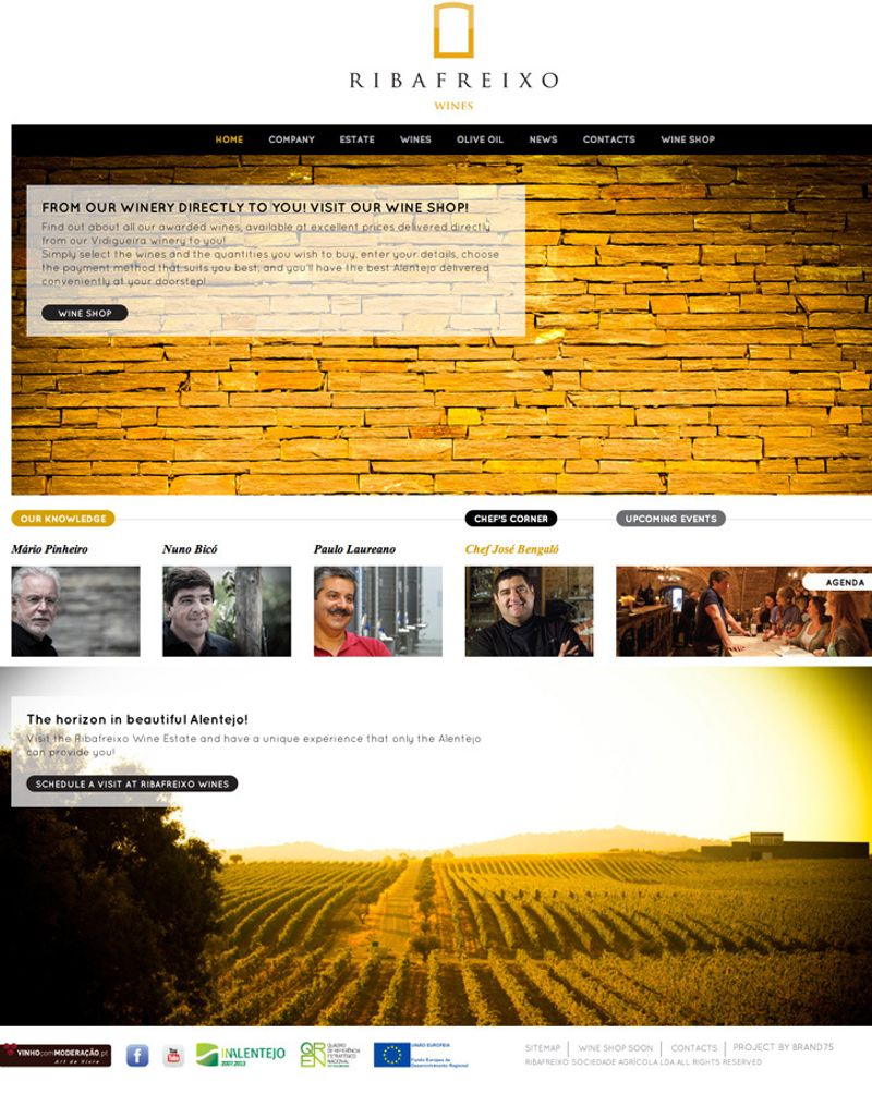Logo and web for Ribafreixo, a Southern Portugal wine producer.