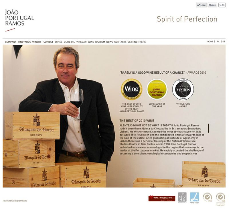 Flash web for Wine Producer