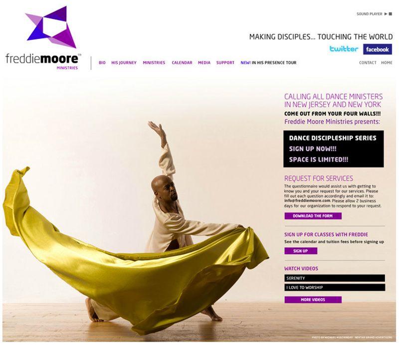 Flash web for Freddie Moore Ministries