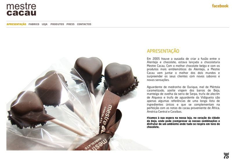 Flash web project for craft candy factory